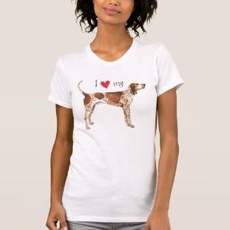 Amo mi Coonhound del inglés americano Playera