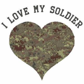 Amo mi corazón del camuflaje del soldado