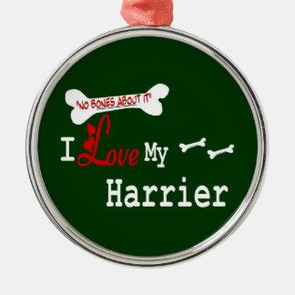 Amo mi corredor de cross adorno navideño redondo de metal