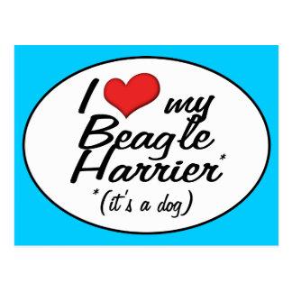 Amo mi corredor de cross del beagle (es un perro) postal