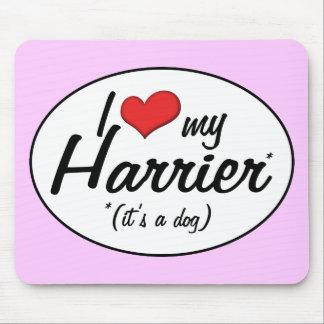 Amo mi corredor de cross (es un perro) alfombrilla de raton