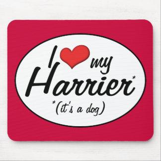 Amo mi corredor de cross (es un perro) tapete de ratón