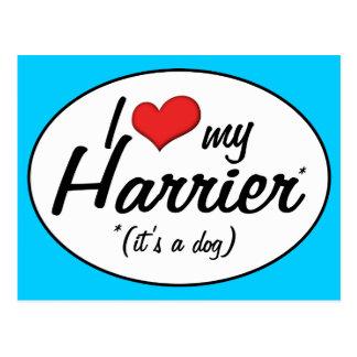 Amo mi corredor de cross (es un perro) tarjeta postal