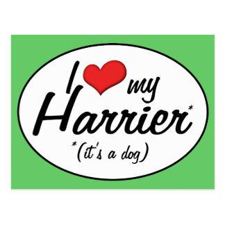 Amo mi corredor de cross (es un perro) tarjetas postales