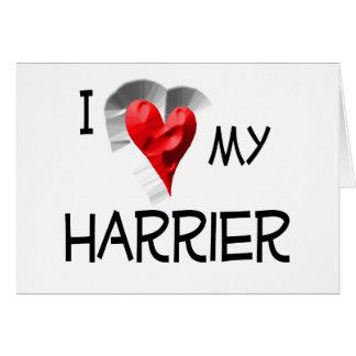 Amo mi corredor de cross tarjeta de felicitación
