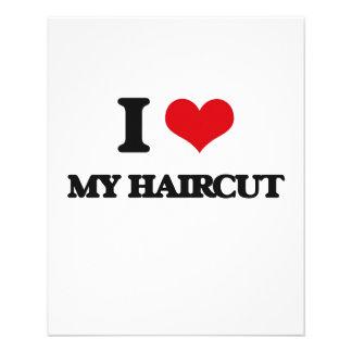 Amo mi corte de pelo tarjetón