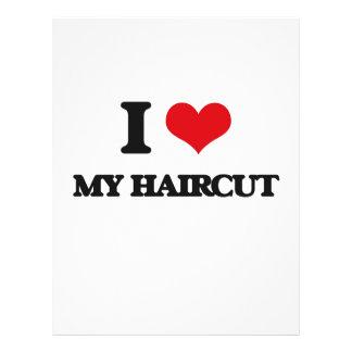 Amo mi corte de pelo flyer a todo color
