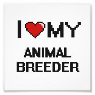 Amo mi criador animal impresión fotográfica