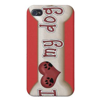 AMO mi cubierta del caso del iPhone 4 del perro al iPhone 4 Carcasa