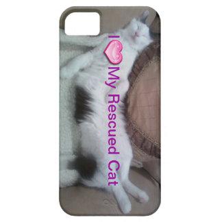 Amo mi cubierta rescatada de la caja del teléfono iPhone 5 protectores