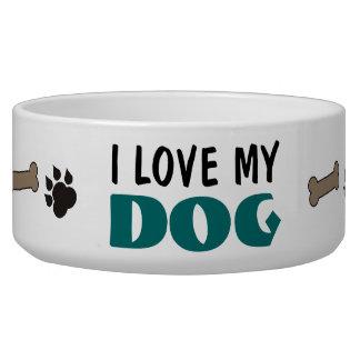 Amo mi cuenco del mascota del perro comedero para mascota