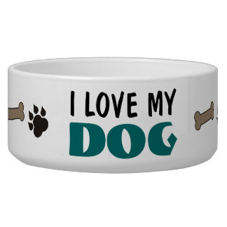 Amo mi cuenco del mascota del perro bol para perro