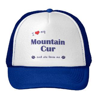 Amo mi Cur de la montaña (el perro femenino) Gorros Bordados