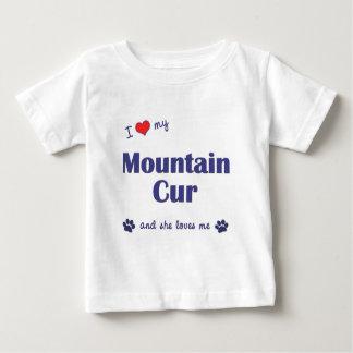 Amo mi Cur de la montaña (el perro femenino) Playera Para Bebé