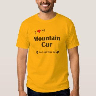 Amo mi Cur de la montaña (el perro femenino) Remeras