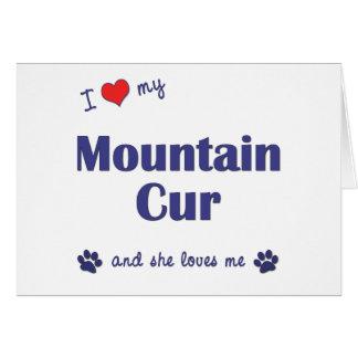 Amo mi Cur de la montaña (el perro femenino) Tarjeta De Felicitación