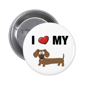 Amo mi dachshund pin
