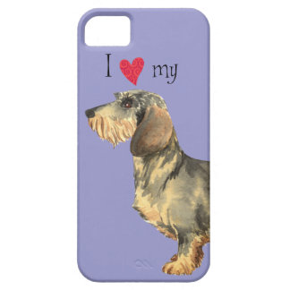 Amo mi Dachshund Wirehaired iPhone 5 Protectores