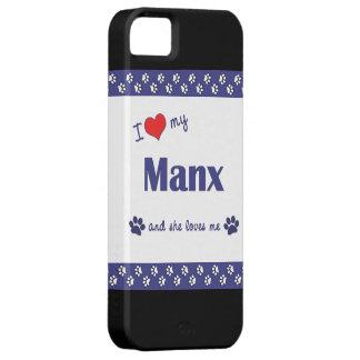 Amo mi de la Isla de Man (el gato femenino) iPhone 5 Funda