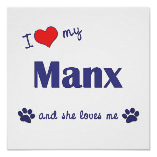 Amo mi de la Isla de Man (el gato femenino) Posters