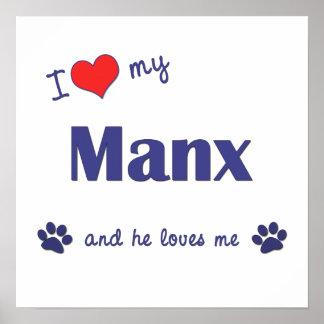 Amo mi de la Isla de Man (el gato masculino) Poster