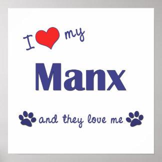 Amo mi de la Isla de Man (los gatos múltiples) Impresiones