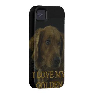 Amo mi de oro vibe iPhone 4 carcasas