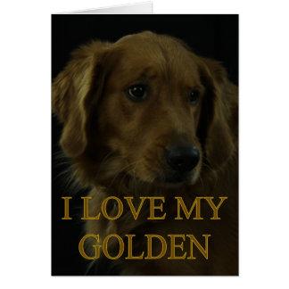 Amo mi de oro tarjeta de felicitación