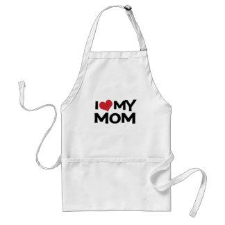 Amo mi delantal del día de madre de la mamá