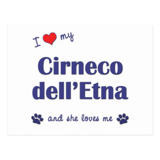 Amo mi dell Etna de Cirneco el perro femenino Postal