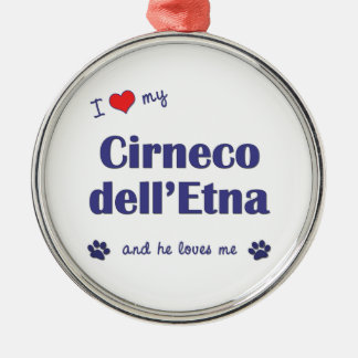 Amo mi dell Etna de Cirneco el perro masculino Adorno Para Reyes