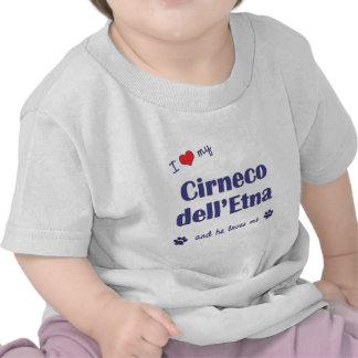Amo mi dell Etna de Cirneco el perro masculino Camiseta