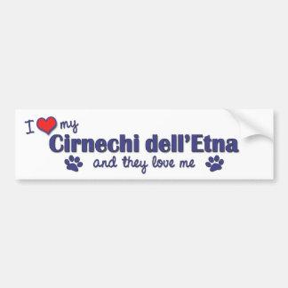 Amo mi dell'Etna de Cirnechi (los perros múltiples Etiqueta De Parachoque