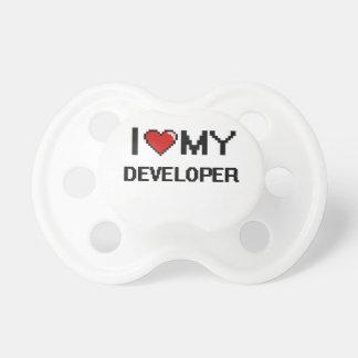 Amo mi desarrollador chupete de bebé