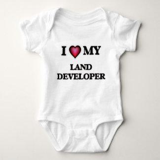 Amo mi desarrollador de la tierra body para bebé