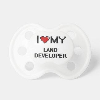 Amo mi desarrollador de la tierra chupetes para bebes