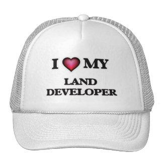 Amo mi desarrollador de la tierra gorras