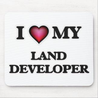 Amo mi desarrollador de la tierra mousepads