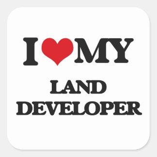 Amo mi desarrollador de la tierra pegatina