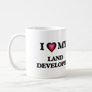 Amo mi desarrollador de la tierra taza de café