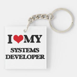 Amo mi desarrollador de los sistemas llaveros