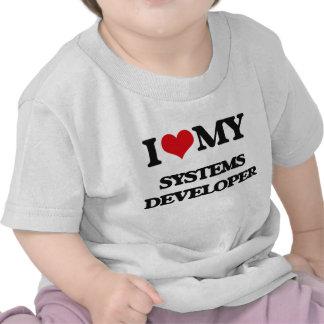Amo mi desarrollador de los sistemas camiseta