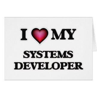 Amo mi desarrollador de los sistemas tarjeta de felicitación