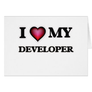Amo mi desarrollador tarjeta de felicitación