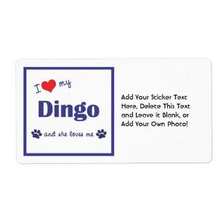 Amo mi Dingo (el perro femenino) Etiquetas De Envío