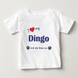 Amo mi Dingo (el perro femenino) Playera De Bebé