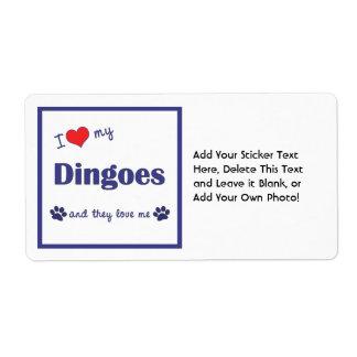 Amo mi Dingoes (los perros múltiples) Etiquetas De Envío