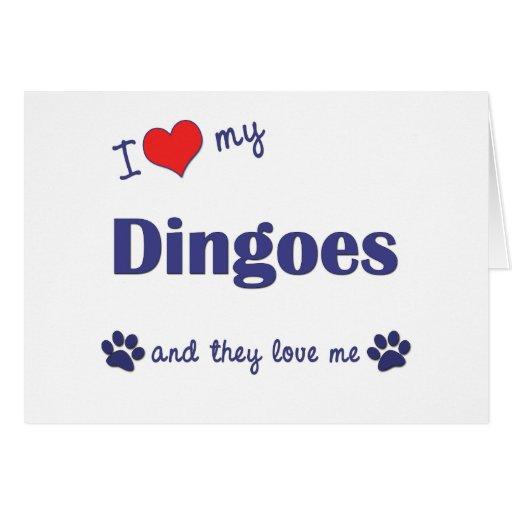 Amo mi Dingoes (los perros múltiples) Felicitacion