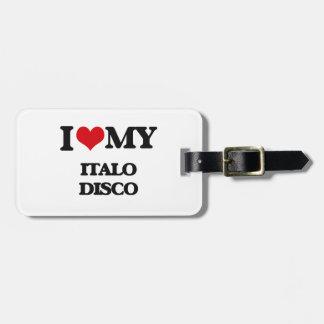 Amo mi DISCO de ITALO Etiquetas Maleta