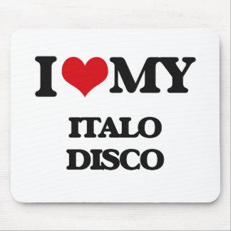 Amo mi DISCO de ITALO Alfombrilla De Ratón